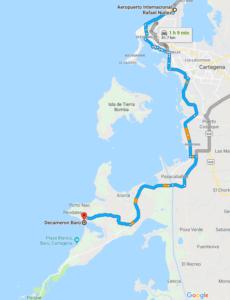 Transportes Cartagena Decameron Baru
