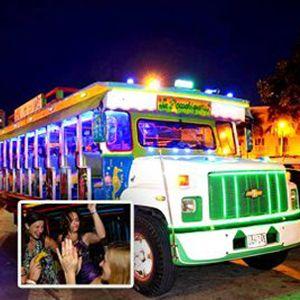 Chiva rumbera en cartagena, rumba en chiva, chiva, planes en Cartagena, tours en Cartagena, tours por Cartagena, city tours, Cartagena nocturna, agencias de viaje en cartagena