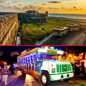 Combos rumba en chiva + city tours cartagena, agencias de viaje en cartagena, turismo en cartagena, planes en cartagena