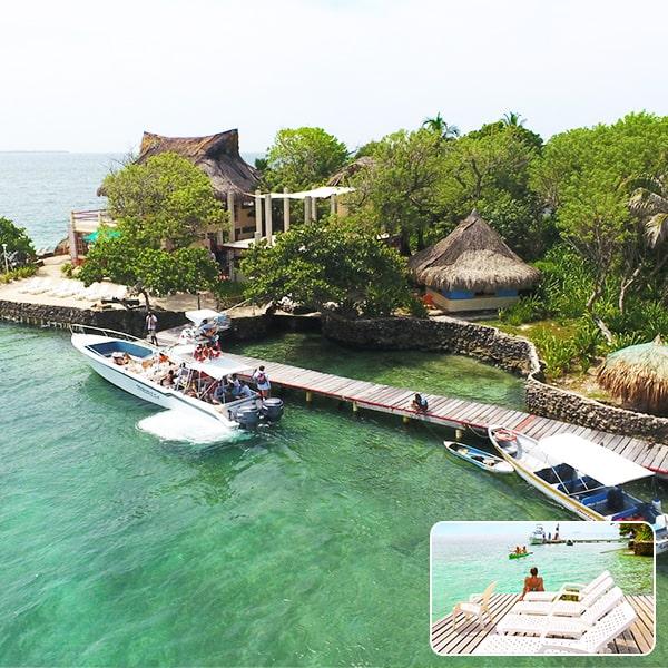 isla del pirata islas del rosario, pasadia islas del rosario, tours islas del rosario albitours cartagena